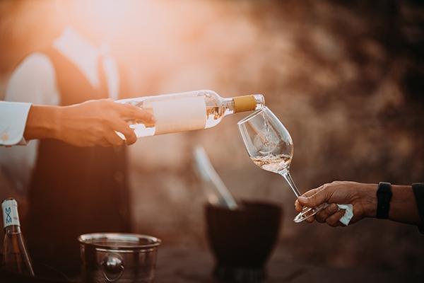 Stimmungsbild Weinverkostung