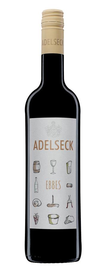 2018 Adelseck Ebbes Rotwein Cuveé aus Sarmsheim an der Nahe in Deutschland