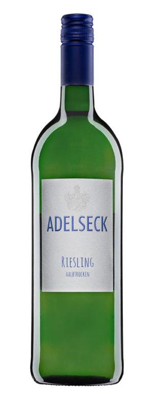 2018 Adelseck Riesling Qualitätswein Weißwein halbtrocken aus Sarmsheim an der Nahe in Deutschland