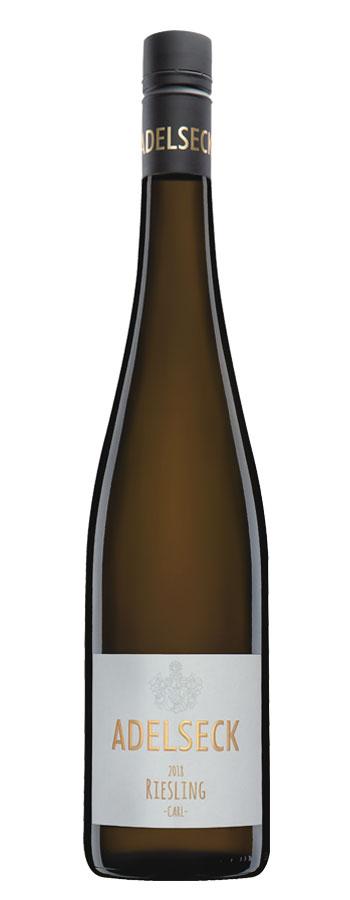 2018 Adelseck Riesling CARL Weißwein feinherb aus Sarmsheim an der Nahe in Deutschland