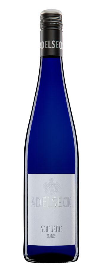 2018 Adelseck Scheurebe Spätlese Weißwein lieblich aus Sarmsheim an der Nahe in Deutschland