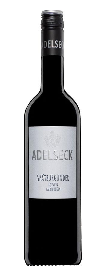 2018 Adelseck Spätburgunder Rotwein halbtrocken aus Sarmsheim an der NAhe in Deutschland