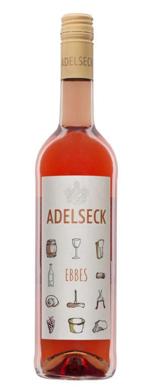 2019 Adelseck Ebbes Roséwein Cuveé aus Sarmsheim an der NAhe in Deutschland