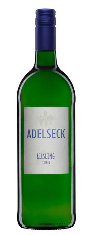 2019 Adelseck Riesling Qualitätswein Weißwein trocken aus Sarmsheim an der Nahe in Deutschland