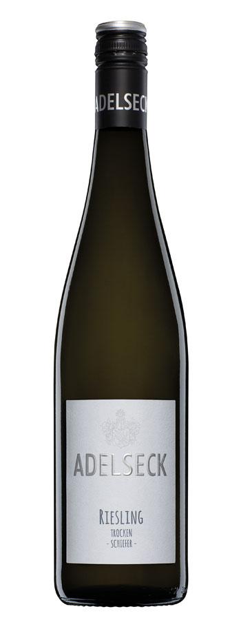 2019 Adelseck Riesling vom Schiefer Weißwein trocken aus Sarmsheim an der Nahe in Deutschland